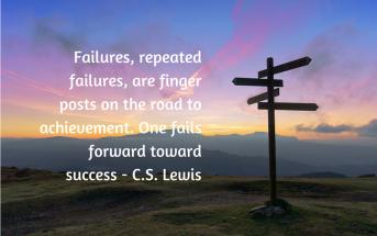failure quote finger posts