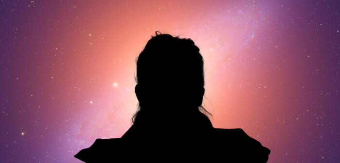 girl watching stars