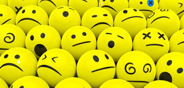 collection of emoticon balls