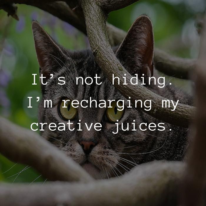 hiding creative juices