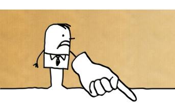 cartoon man pointing the finger