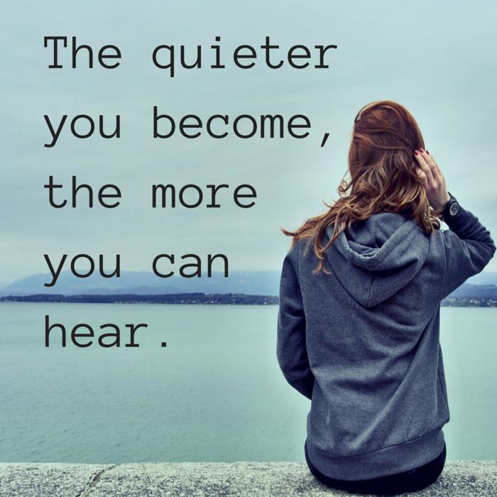 hear more when it's quiet