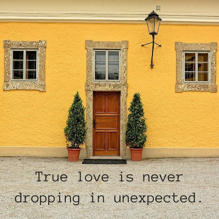 true love dropping in unexpected