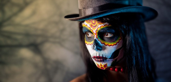 woman with skull facepaint