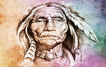native american indian colorful art