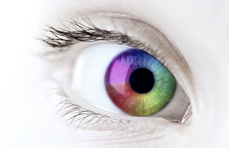 eye closeup rainbow