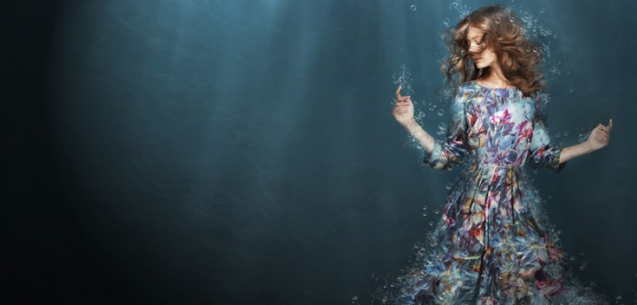woman drowning feeling overwhelm