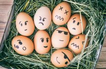 eggs with painted faces personality types