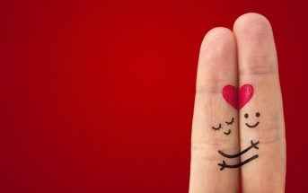 love illustrated by fingers