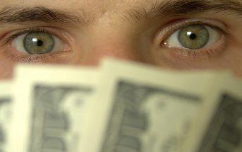 greedy man with money
