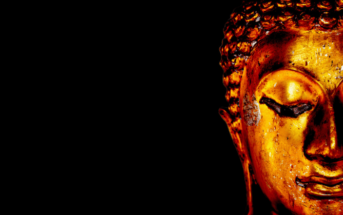 Buddhist face signifying maturity