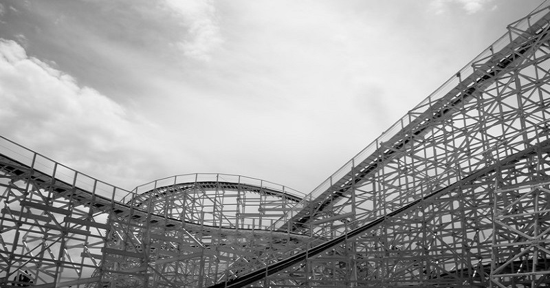 old wooden rollercoaster