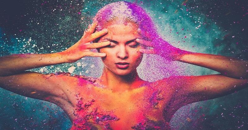woman energy fields