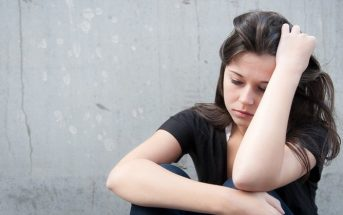young empath woman struggling with problems
