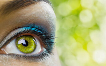 close-up of green eye illustrating intuition