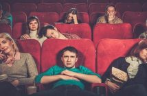 bored moviegoers in a cinema