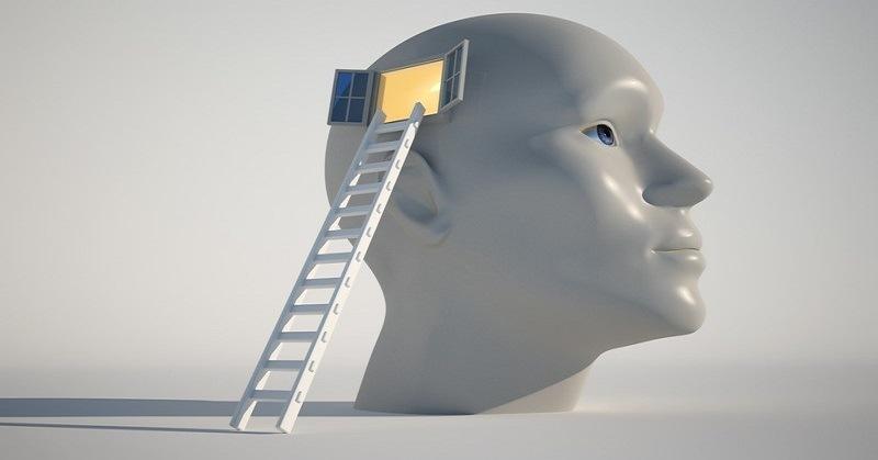 ladder into head illustration