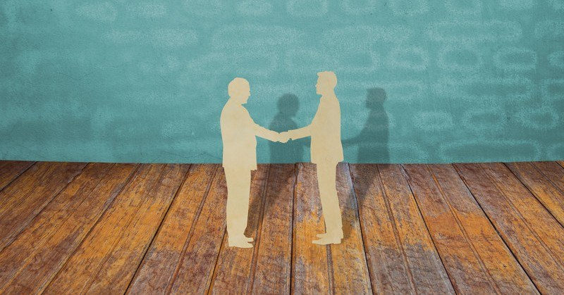 illustration of handshake showing concept of judgment