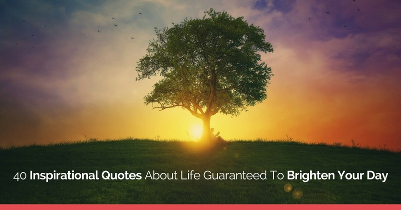 20 Inspirational Quotes To Brighten Your Day: 40 Inspirational Quotes About Life Guaranteed To Brighten