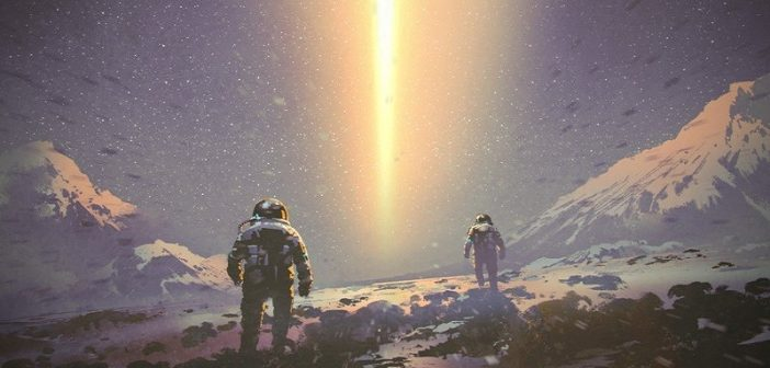 astronaut movie scene illustration
