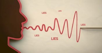 illustration of person and polygraph to signify pathological lying
