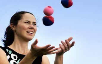 woman learning to juggle showing that you can train for success
