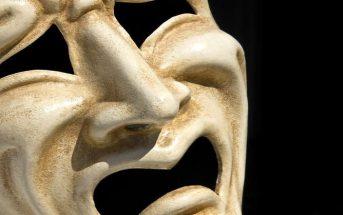 sad looking venetian mask - concept of a narcissist who has been hurt