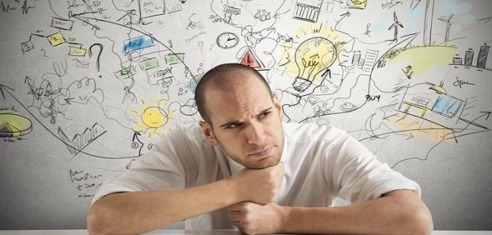 man thinking critically about a situation