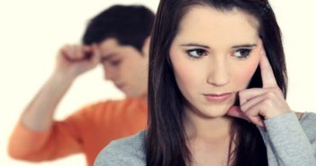 young couple where one partner has lied to the other