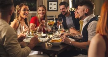 group of friends eating - but how many do you really need?