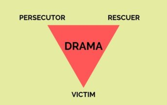 illustration of the Karpman Drama Triangle