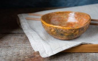 Hand crafted Japanese bowl symbolizing the art of Wabi-Sabi