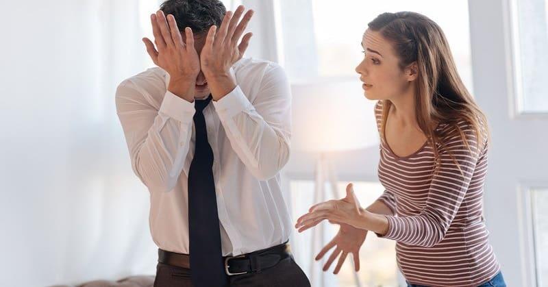 controlling woman complaining to boyfriend