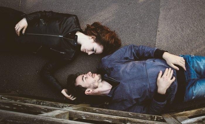 couple lying on ground