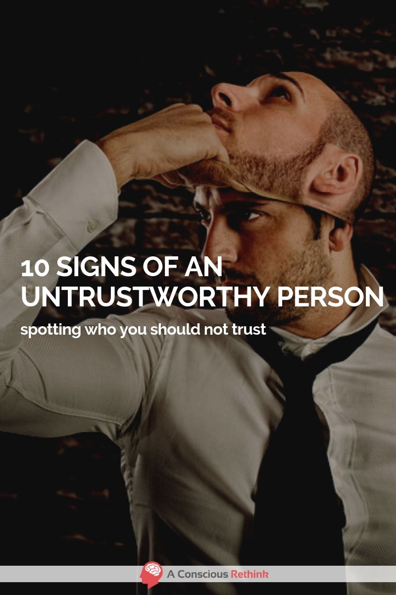 Signs of a shady person