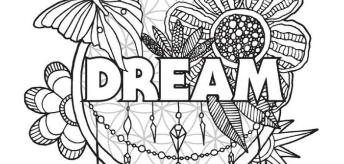 Printable Adult Coloring Pages Of Love Hope Peace Dreams