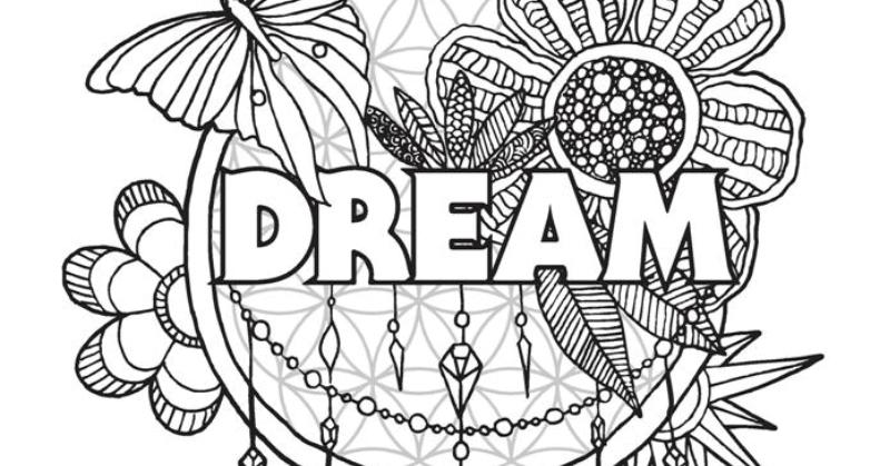 5 Printable Adult Coloring Pages Of Love, Hope, Peace, Dreams + Happiness