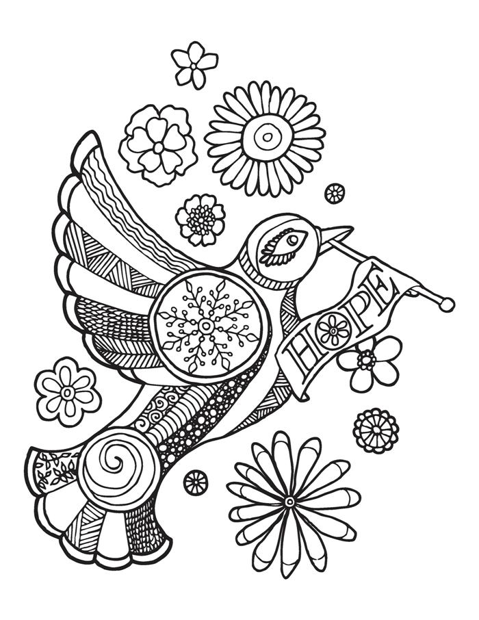 hope adult coloring page
