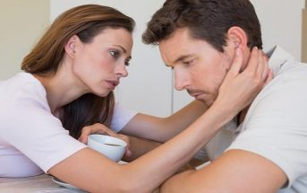 woman showing comfort to stressed boyfriend