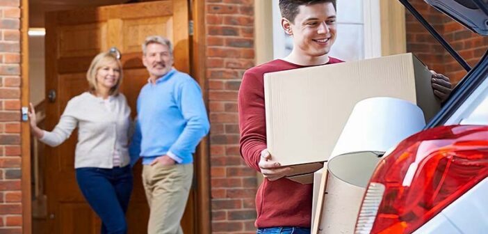 son moving out of his parents' house