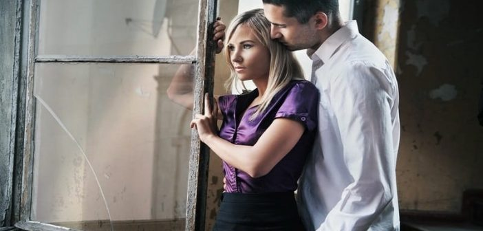 woman playing hard to get with a guy
