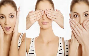 woman doing the three monkey signs to illustrate minding your own business