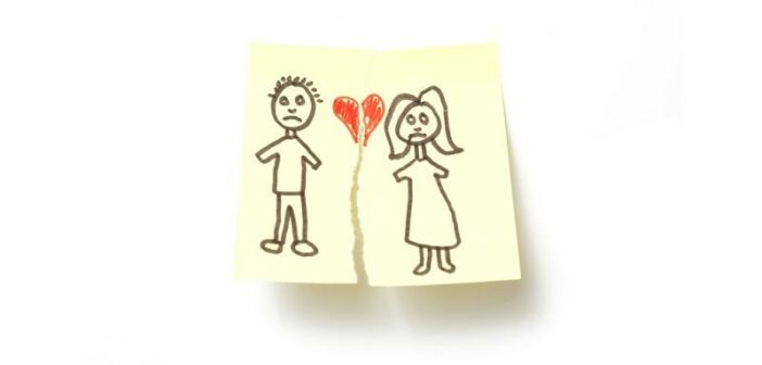 cartoon illustration of the breakup of a long term relationship