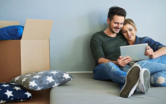 young couple who have just moved in together illustrating cohabitation before marriage