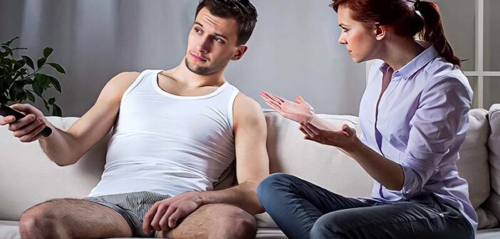husband refusing to work as wife asks why