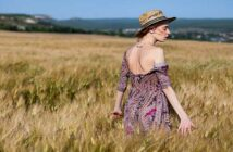 single woman walking through a meadow - illustrating not wanting a relationship