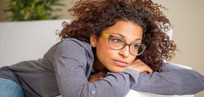 African American woman feeling empty inside
