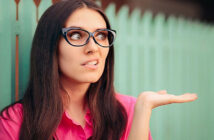 quirky woman looking quizzical asking how to be normal