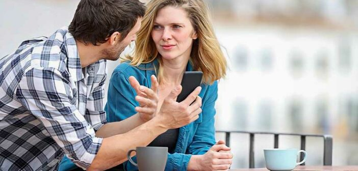 couple having a serious talk to build trust in their relationship