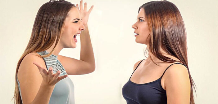 one woman confronting another woman for having an affair with her partner